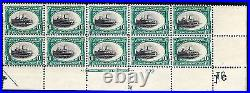 US 294 1c Pan-American Exposition Mint Plate Block of 10 Fast Ship Variety OG LH