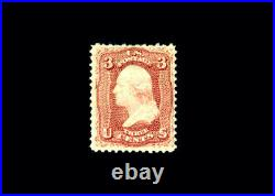 US Stamp Mint, F/VF S#65var Brown Red color variety, original gum hinged with re