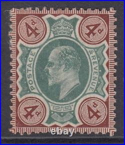 VAR236a 4d Green & Chocolate Brown M24 (1) mounted mint with unlisted variety