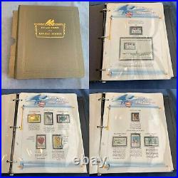 Variety Lot of US Commemorative Stamps 1966-1973 White Ace Binder Free Ship US