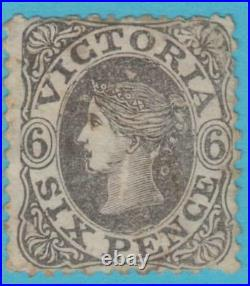 Victoria 71 Mint Hinged Double Face In The Background Variety Error Look