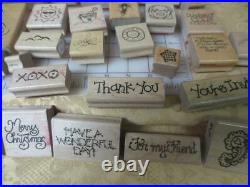 Wholesale Re-sellers Rubber Stamp lot 500 stamps mix assorted brands & designs