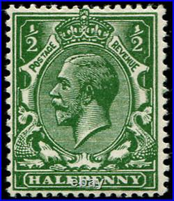 ½d SG 352 VARIETY,'INTENSE-GREEN' MINT, very fine fresh M/M with stunning colo